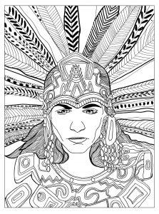 Arte azteca para colorear