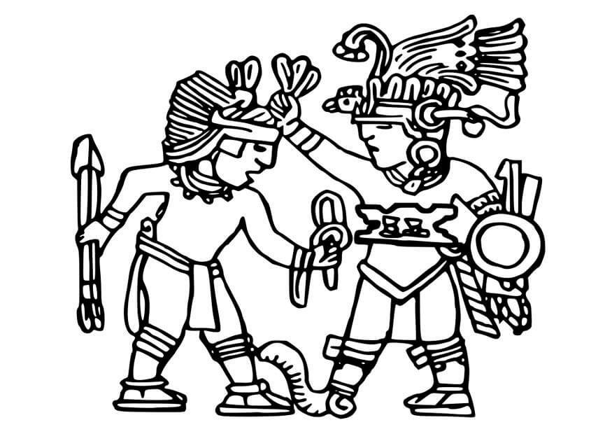 Dibujos Aztecas Para Colorear Diseños Fáciles Y Divertidos
