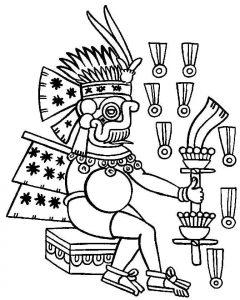 Aztecas colorear