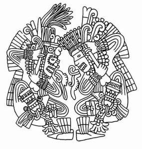 Colorear los aztecas