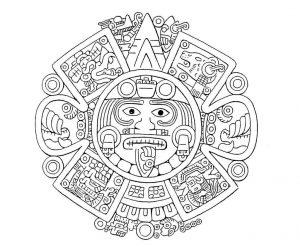 Colorear y descargar azteca