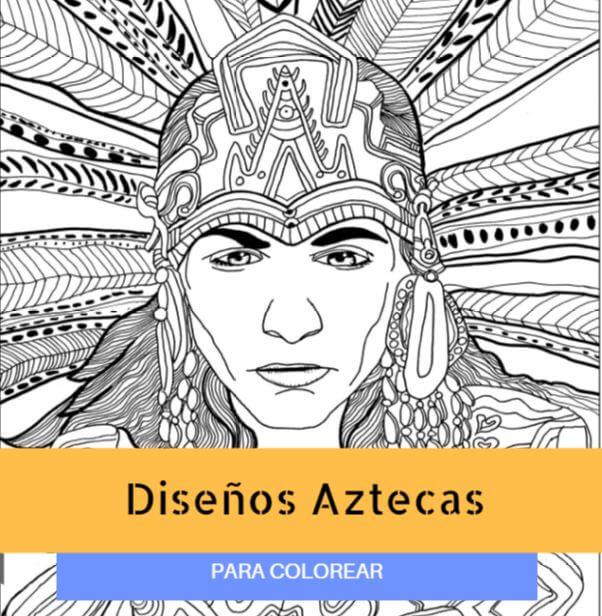 Dibujos Aztecas para Colorear: Diseños Fáciles y Divertidos