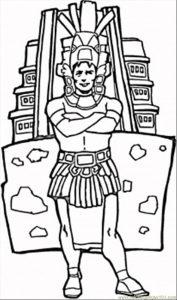 Dioses aztecas para colorear